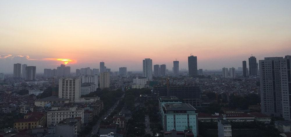Hanoi aerial photo