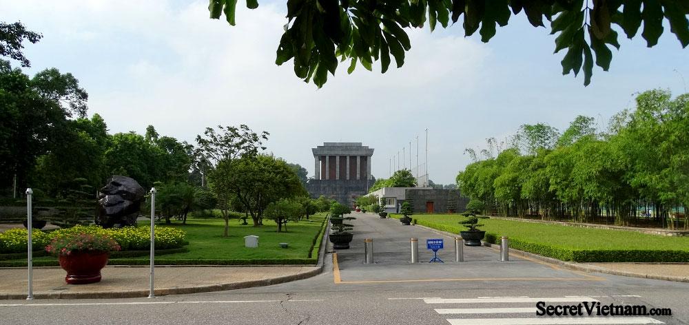 Ho Chi Minh's Mausoleum, a large memorial