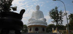 Big Buddha at Long Son Pagoda in Nha Trang