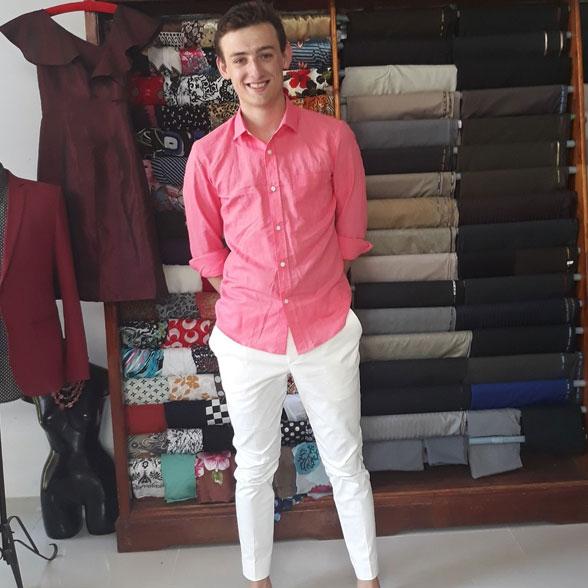 Casual Linen Pink Shirt