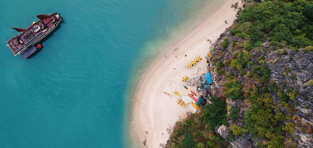Ti Top Beach in Ti Top island