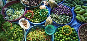 Lung Khau Nhin Market, Vegetable wholesale market